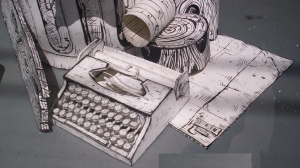 paper backspace writer