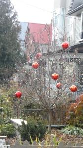 festive red balls