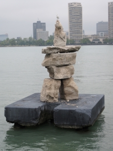 Windsor harbour Inukshuk