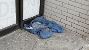 jeans cornered