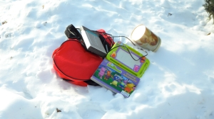 toys in the snow