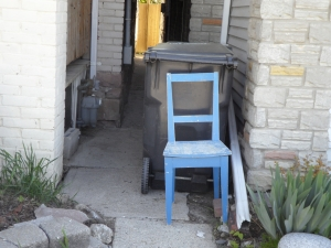another blue chair