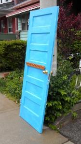 very blue door
